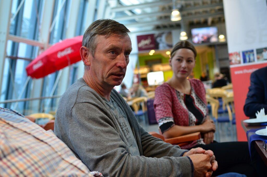 Thomas Gentzel - Sportverantwortlicher erläuterte im Gespräch Streckenführung und die Zeitmesskonditionen der Läufe